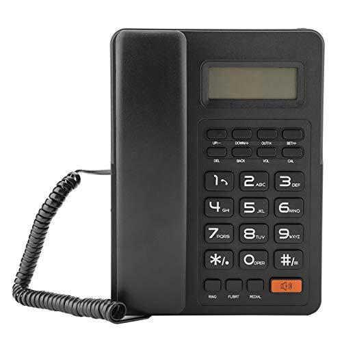 Teléfono con pantalla de identificación de llamadas, teléfono fijo, teléfono con cable ABS, para oficina en casa