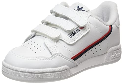 adidas Continental 80 CF, Sneaker, Cloud White/Cloud White/Scarlet, 33 EU