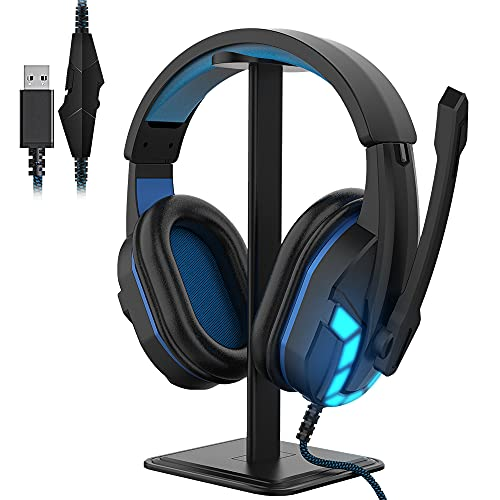 HIFI WALKER USB Headset with Microphone, Noise Cancelling, 7.1 Virtual Surround Sound Gaming Headphones for PC and More