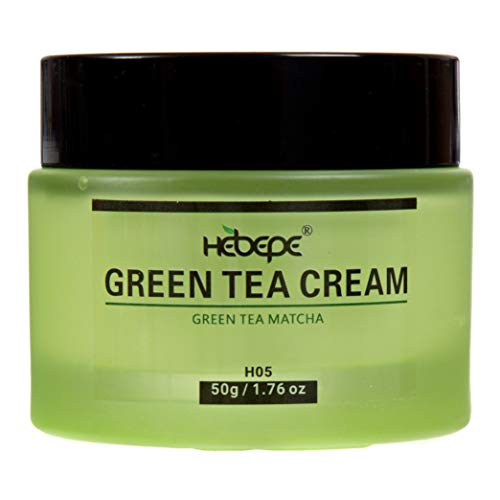 Hebepe Green Tea Matcha Face Moisturizer Cream with Collagen, Cocoa Butter, Grapefruit, Vitamin C&E, Tangerine Peel Extract, Anti-Aging Face Cream Help Reduce Appearance of Wrinkles Fine Lines