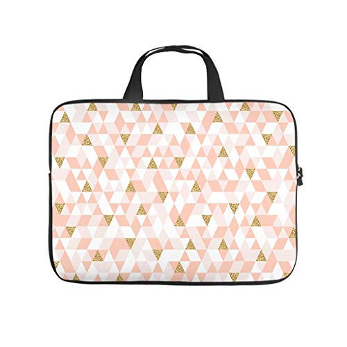 Laptop Sleeve Geometric patterns Wear-resistant Modern Design -Laptop Bag Case Compatible with 13-15.6 inch Notebook white 17 zoll