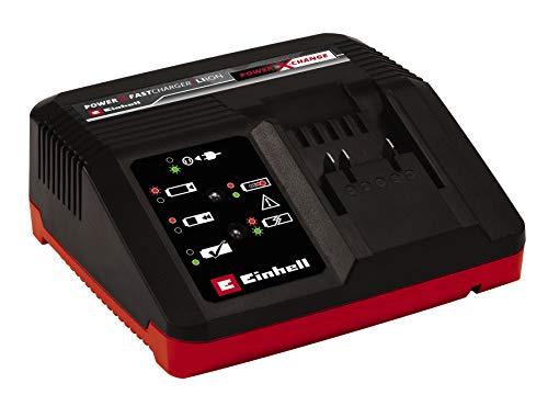 Einhell Original Ladegerät Power X-Fastcharger 4A Power X-Change (Li-Ion, 18V, verkürzte Ladezeiten, permanente Akkuüberwachung und intelligentes Lademanagement, 6-fache Zustands-LED-Anzeige)
