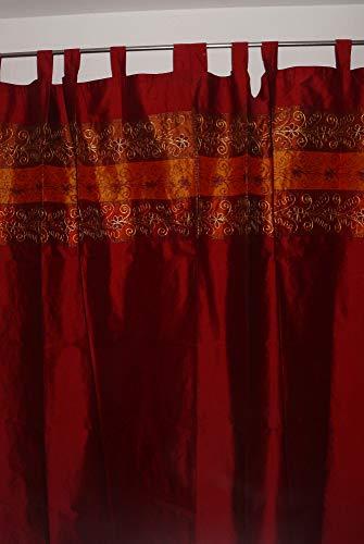 Marrakech Accessoires Orientalischer Vorhang Schlaufen Schal Bestickt 110 cm x 235 cm (1 Stück) - 905306-0020