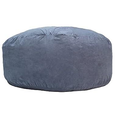 Gold Medal Bean Bags Comfort Cloud Foam Bean Bag, 6', Blue