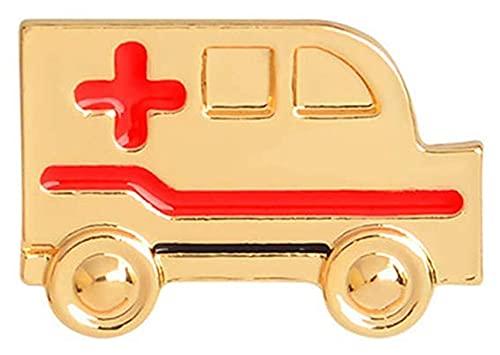 Lzpzz Erste-Hilfe-Autoform Brosche Pins Schmuck Kleidung Taschen Rucksäcke Capel Jacket Abzeichen Zubehör, Gold Superiorâ €, Qualität und Kreativ