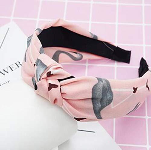 FISISZ Croisé Noué Femmes Cheveux Accessoires Couleur Unie Large Noué Bandeau Rétro Simple Tissu Tête Boucle Presse Chapeaux, comme Image 21