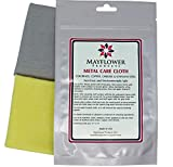 Metal Care Kit for Stainless Steel, Copper, Brass, Chrome. Made in USA, Non-toxic 11 x 14 Inch, 2 Cotton Cloth Set: 1 for Cleaning and Polishing, 1 for Finish Shine. Environment, User-Friendly Cleaner