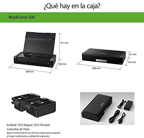 Epson - Impresora inalámbrica WF-100 de la serie WorkForce