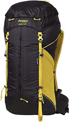 Bergans Helium 40 Gelb-Schwarz, Alpin- und Trekkingrucksack, Größe 40l - Farbe Solid Charcoal - Waxed Yellow