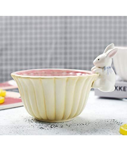 Mstr Konijn keramische kom dessert voedsel geel schattig snack snoep kom servies