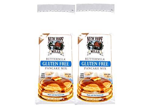 New Hope Mills Gluten Free Buttermilk Pancake Mix or Chocolate Brownie Mix 2-16 oz Packs (Gluten Free Pancake Mix)