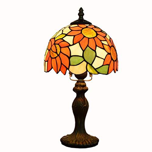 Lámpara De Mesa De Tiffany Europea Lámpara De Dormitorio Lámpara De Noche Lámpara De Vidrio Manchado Hecho A Mano Lámpara