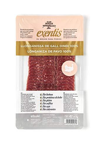 Can Duran, Longaniza de Pavo 100% loncheada- 9 de 80 gr. (Total 720 gr.)
