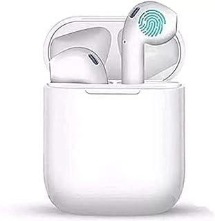 Fones de ouvido sem fio, fones de ouvido Bluetooth 5.0 TWS com caixa de carregamento de microfone Controle de toque USB-C ...