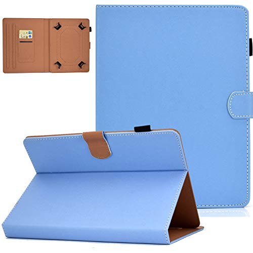 UGOcase 8.0 inch Universal Tablet Case, PU Leather Multi-Angle Stand Folio Wallet Case Magnetic Cover with Pencil Holder for iPad Mini 5 7.9, Fire HD 8, for Samsung Galaxy Tab A 8.0 /Tab S2 8.0, Blue