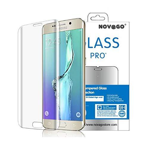 """Novago Compatible con Samsung Galaxy S6 Edge Plus 5.7"""" - Película de cristal templado curvado (redondeado en el borde) protege toda la pantalla"""