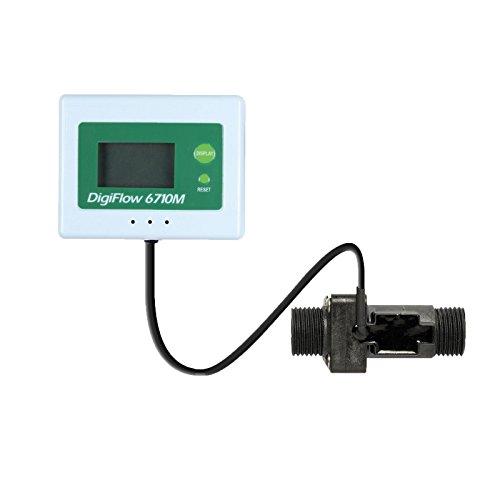 VYAIR DigiFlow 6710M-44TM Mini débitmètre numérique à montage sur panneau 1,5 à 25 litres/minute avec connexions BSP 1,27 cm