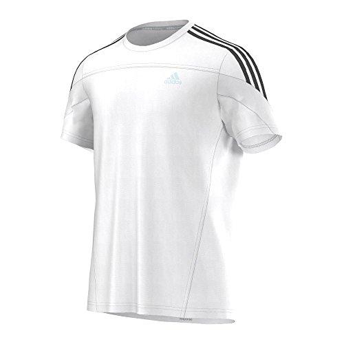 adidas Kurzärmliges Shirt Response tee - Camisa, Color Blanco/Negro, Talla S