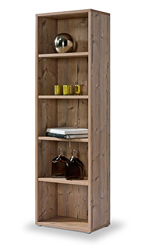 Cultmöbel Regal Fichte, Click System: werkzeuglose Montage, Bücherregal Dekor Fichte: Echtholz Haptik