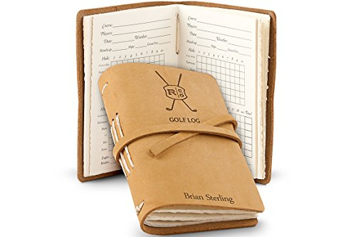 GiftTree Leather Bound Golf Log Journal