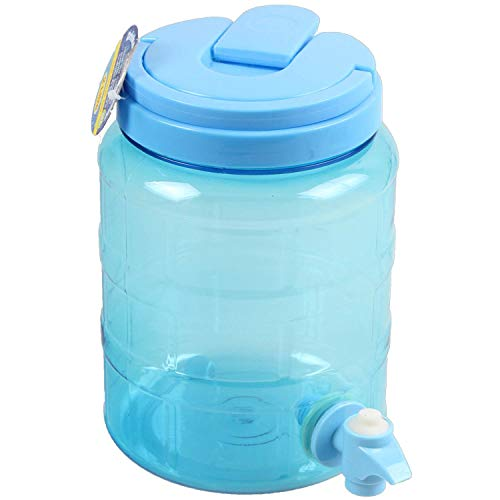 2 Liter Getränkespender für Wasser Saft Cocktails Getränke mit Hahn BPA frei 2 Litre blau