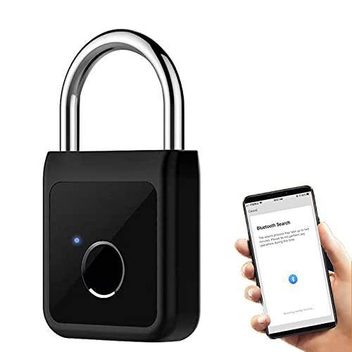 Tuya Candado inteligente de huellas dactilares, WIFI Bluetooth Lock Candado inteligente, APLICACIÓN Control remoto de huellas dactilares Cerradura, Bloqueo de seguridad de 40 huellas dactilares