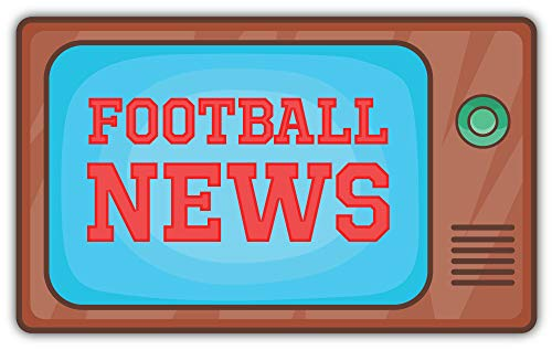SkyBug Football News Tv Bumper Sticker Vinyl Art Decal for Car Truck Van Window Bike Laptop