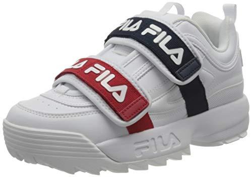 FILA Damen Disruptor Straps wmn Sneaker, White, 40 EU