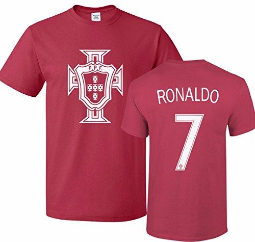 Tcamp Portugal Soccer Shirt Cristiano Ronaldo #7 Jersey Men T-Shirt Red
