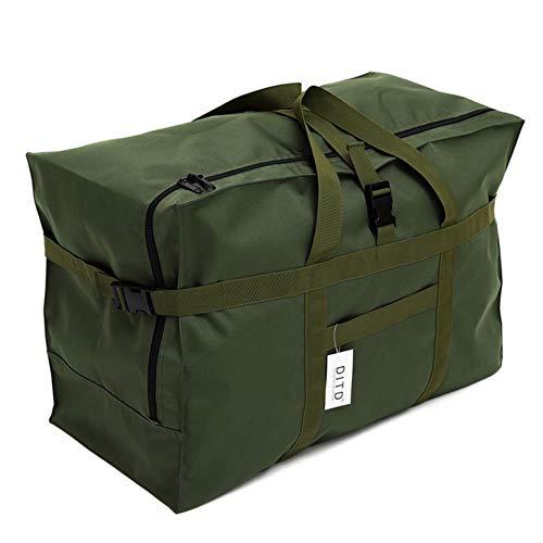 K-ONE Unisex 120L Waterproof Travel Bag Women Luggage Organizer Bag Men Large Capacity Duffle Tote Folding Travel Handbag,big green
