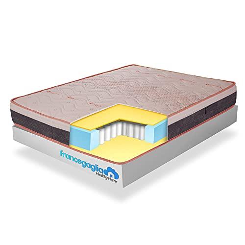 FRANCEGAGLIA-Materasso Singolo Memory Foam a Molle insacchettate-h25cm-Materasso singolo ortopedico Made in Italy-Ausilio Medico-Mod. Healthy Dream