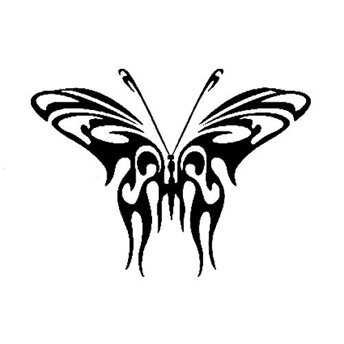 ZHYCT 2 Pcs, Car Stickers Individual Tribal Butterfly Silver Vinyl Car Sticker Motorcycle Bicycle Luggage Decal Graffiti Patches Skateboard Stickers For Laptop
