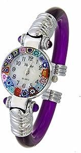 Reloj Violeta Watch de cristal de Murano Murrina Millefiori
