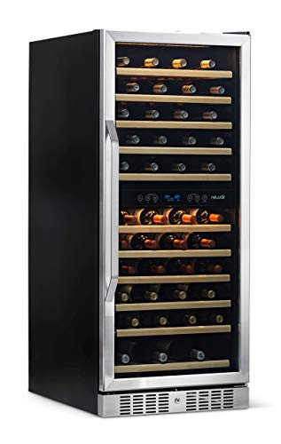 """NewAir 24"""" Wine Cooler Refrigerator, Large 116 Bottle Built-in or Freestanding Dual Zone Wine Cellar in Stainless Steel with Precision Thermostat - AWR-1160DB (Kitchen)"""