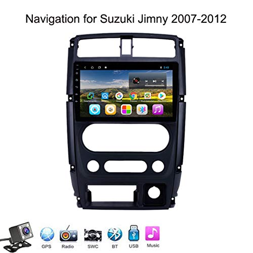 Buladala Android 8.1 Quad Core Navigatore GPS Autoradio Stereo per Suzuki Jimny 2007-2012, con 9'' LCD/Multi Media Player, Supporto WLAN USB AV-out/Chiamate Bluetooth,4g+WiFi: 1+16gb
