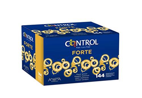 Control Forte Preservativos - Caja de condones con 144 unidades (pack extra grande)
