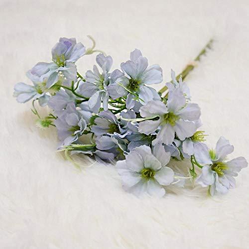 Dekoration Künstliche Gänseblümchen Blumen Seide Gefälschte Blumen Cerastium Tomentosums Faux Bouquet Home Party Dekorative Günstige Blumenstrauß Blau