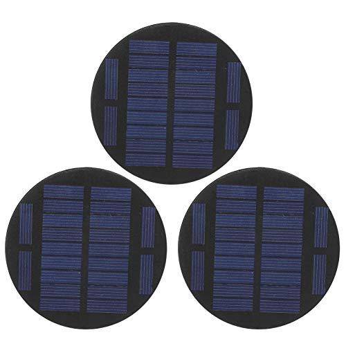 Kuuleyn Panel Solar epoxi, Panel Solar DC 5,5 V, módulo de Panel Solar Redondo de 3 Piezas, Suministros industriales de Bricolaje epoxi de polisilicio DC 5,5 V 100MA 0,55 W