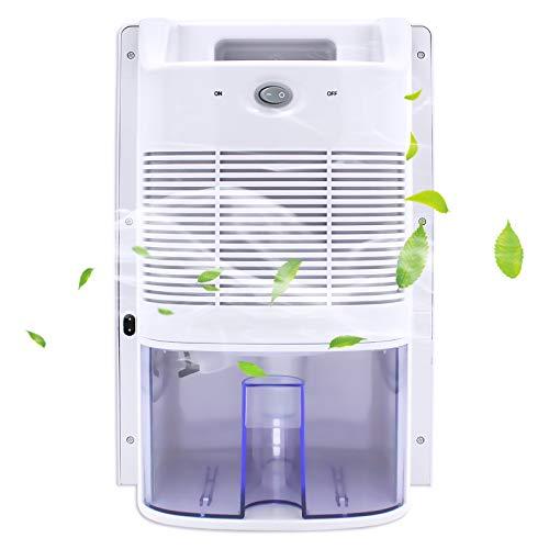 Deshumidificador 2L – Secador de aire compacto y portátil contra la humedad, la suciedad y el moho en el hogar, el baño,...