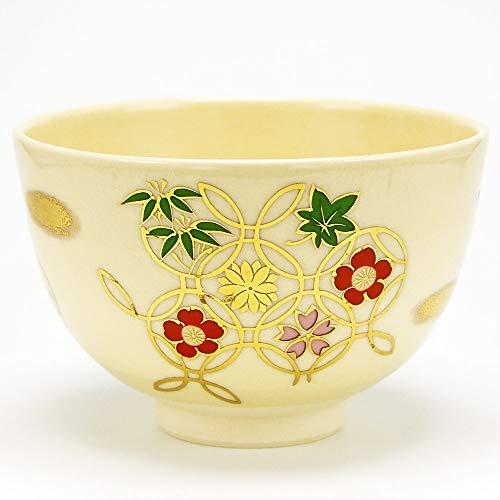 抹茶碗 「花七宝」 通年物 茶道具