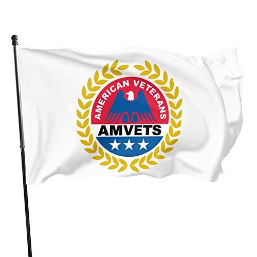 Winbri American Veterans Amvets 3X5 Foot Banner Flags Garden Flag Home House Flags Outdoor Flag