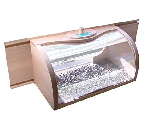 Coveside Bread Box Window Mount Bird Feeder with 2-way Mirror