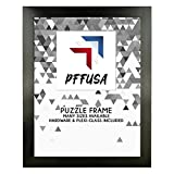 PictureFrameFactoryOutlet | 19.6x29.5 Picture Frame | Puzzle Frame | Poster Frame | 1.25 Inch Black MDF Frame | Plexi Glass and Hanging Hardware Included
