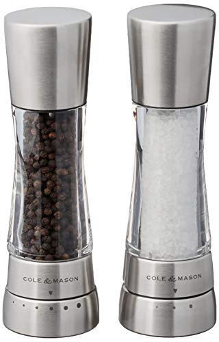 COLE & MASON Derwent Salt and Pepper Grinder Set - Stainless...