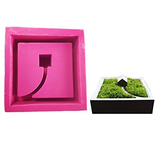 Stampo in silicone a forma geometrica quadrata in vaso di cemento stampo manuale per argilla artigianale gesso calcestruzzo silicone stampo ufficio Decor