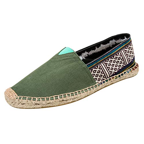 Sale!! Meigeanfang Women's Fashion National Style Print Casual Canvas Flats Thin Bottom Espadrilles ...