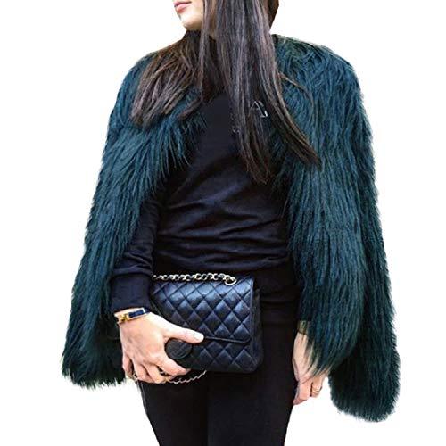 Herbst Winter Damen Haarigen Pelz Jacke Frauen Party Fox Pelzmantel