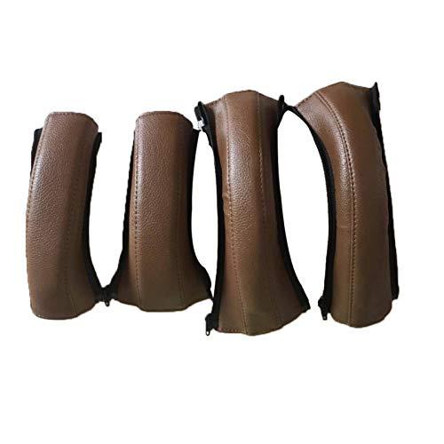 4 unids cochecito de bebé apoyabrazos cubierta de cuero impermeable anti-rotura universal silla manija cubre para cochecito universal Accesorios