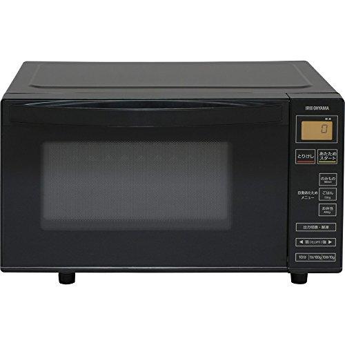 アイリスオーヤマ 電子レンジ 18L フラットテーブル ヘルツフリー 600W 全国対応 シンプル操作 ブラック IMB-FV1801