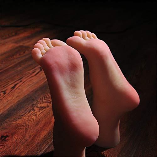 YH-feet Silikon Füße Modell, Chinesin Silikon Fuß Schaufensterpuppe für Frauen realistische Sondergröße 36, um Füße modellfrei Nagelsticker zu fälschen